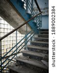 An Old Staircase In An...
