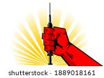 coronavirus vaccination concept ...   Shutterstock .eps vector #1889018161