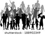 family silhouettes | Shutterstock .eps vector #188902349