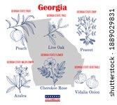 georgia. set of usa official...   Shutterstock .eps vector #1889029831