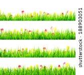 green grass with daisy flowers... | Shutterstock .eps vector #188903051