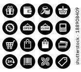 shopping icons set | Shutterstock .eps vector #188908409