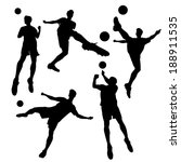 silhouette of soccer football...   Shutterstock .eps vector #188911535