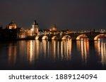 Charles Bridge At Night And...