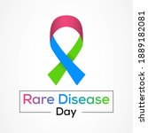 rare disease day is an... | Shutterstock .eps vector #1889182081