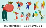 male and female character set...   Shutterstock .eps vector #1889195791