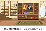 clothes and accessories in...   Shutterstock .eps vector #1889207494
