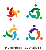 Design vector wave star logo element. Abstract people icon. You can use in the media, mobile, public groups, alliances, environmental, mutual aid associations and other social welfare agencies.
