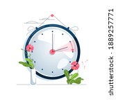 daylight saving time vector... | Shutterstock .eps vector #1889257771