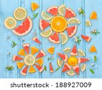 funny pattern of mix fresh... | Shutterstock . vector #188927009