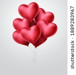heart balloons vector concept...   Shutterstock .eps vector #1889283967