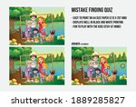 mistake finding quiz   a game... | Shutterstock .eps vector #1889285827