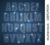 alphabet of glittering sequins  ... | Shutterstock .eps vector #188929034