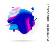 liquid colorful shapes isolated ...   Shutterstock . vector #1889302177