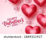 happy valentines day heart...   Shutterstock .eps vector #1889311927