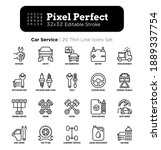 car service thin line icons set ...   Shutterstock .eps vector #1889337754