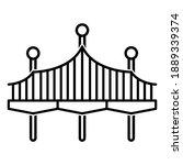 Bridge Icon In Modern Outline...