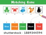 match animals by color.... | Shutterstock .eps vector #1889344594
