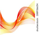 red yellow line wave on white... | Shutterstock . vector #188936654