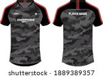 camouflage sports t shirt... | Shutterstock .eps vector #1889389357