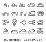 vehicle and transport thin line ... | Shutterstock .eps vector #1889397184