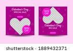 valentine's day media post...   Shutterstock .eps vector #1889432371