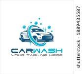 car wash logo design vector...   Shutterstock .eps vector #1889435587