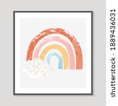 vector colorful hand drawn... | Shutterstock .eps vector #1889436031