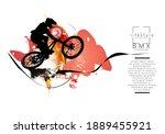 active young man doing tricks...   Shutterstock .eps vector #1889455921