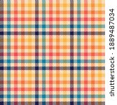 plaid pattern colorful... | Shutterstock .eps vector #1889487034