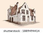 hand sketch on a beige...   Shutterstock .eps vector #1889494414