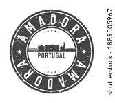 amadora  portugal skyline stamp....   Shutterstock .eps vector #1889505967