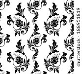 vector  pattern endless floral...   Shutterstock .eps vector #188951819