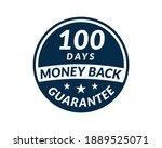 100 day money back guarantee... | Shutterstock .eps vector #1889525071