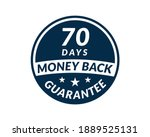 70 day money back guarantee... | Shutterstock .eps vector #1889525131