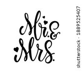 mr and mrs wedding sign with... | Shutterstock .eps vector #1889525407