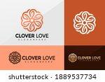 clover love logo vector  flower ... | Shutterstock .eps vector #1889537734