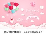 gift box with balloon on sky...   Shutterstock .eps vector #1889560117