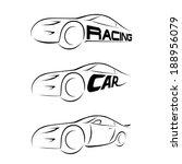 silhouette of car. vector... | Shutterstock .eps vector #188956079