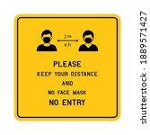 notice please keep your... | Shutterstock .eps vector #1889571427