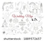 wedding invitation card with... | Shutterstock .eps vector #1889572657
