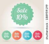 vector sale 10  badge sticker | Shutterstock .eps vector #188959199
