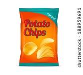 potato chips bag isolated on...   Shutterstock .eps vector #188959691