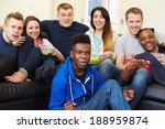 group of friends watching... | Shutterstock . vector #188959874