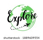 tourism and travel vector... | Shutterstock .eps vector #1889609554