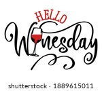 hello winesday   design for... | Shutterstock .eps vector #1889615011