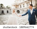Wedding Couple Holding Hands ...