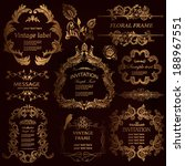 vector set  calligraphic design ... | Shutterstock .eps vector #188967551