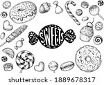 set of sweets. isolated on... | Shutterstock .eps vector #1889678317