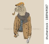 Fashion Illustration Of Tiger...